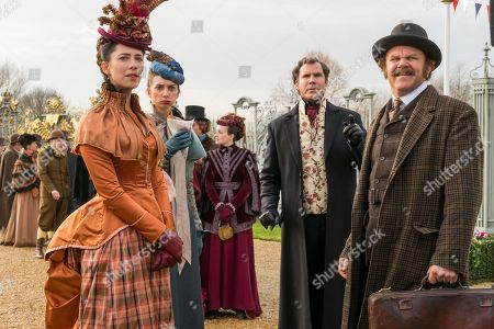 Rebecca Hall as Grace, Lauren Lapkus as Millie, Will Ferrell as Sherlock Holmes and John C Reilly as Watson