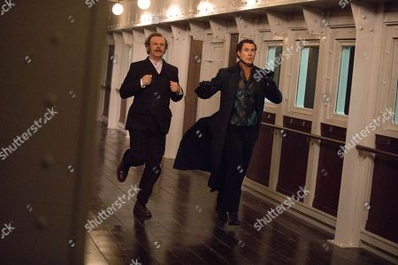 Stock Picture of John C Reilly as Watson and Will Ferrell as Sherlock Holmes
