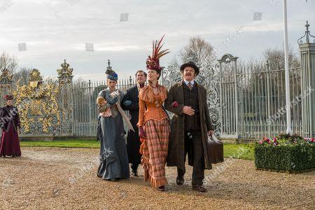 Lauren Lapkus as Millie, Will Ferrell as Sherlock Holmes, Rebecca Hall as Grace and John C Reilly as Watson