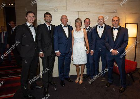 Arthur Kaziev, Hugo Gravil, Alexander Zverev Senior, Irina Zverev, Rainer Schuettler, Jez Green and Andre Kreidler
