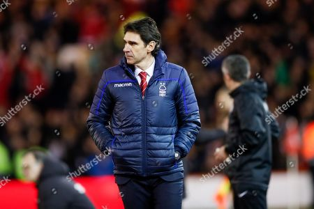 Nottingham Forest Manager Aitor Karanka  during the EFL Sky Bet Championship match between Nottingham Forest and Leeds United at the City Ground, Nottingham