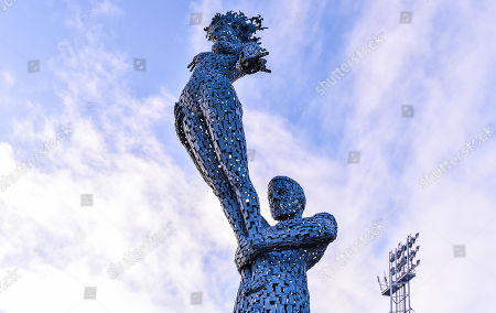 The Sculpture called 'Sport' by artist Andy Scott outside the Keepmoat stadium represents all that sport represents and compliments the Stadium Structure