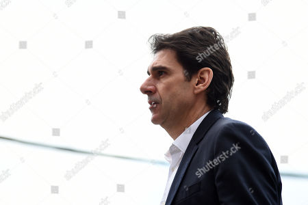Aitor Karanka manager of Nottingham Forest arrives at the stadium prior to kick off.