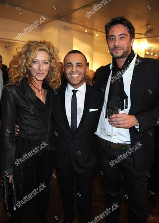 Lorenzo Agius, Kelly Hoppen and her boyfriend Adam