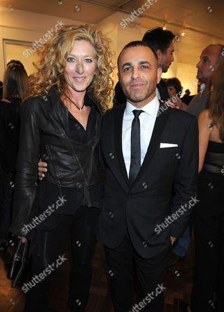 Kelly Hoppen and Lorenzo Aguis