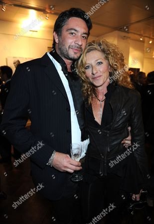 Kelly Hoppen and her boyfriend Adam