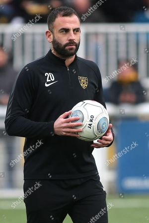 Maidstone United's Assistant Caretaker Manager, Simon Walton during Maidstone United vs Dover Athletic, Vanarama National League Football at the Gallagher Stadium on 1st January 2019
