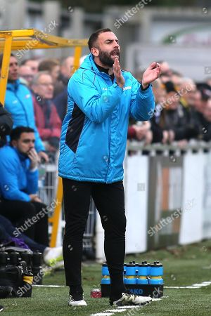 Stock Image of Maidstone United's Caretaker Assistant Manager, Simon Walton during Maidstone United vs Dover Athletic, Vanarama National League Football at the Gallagher Stadium on 1st January 2019