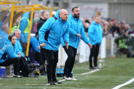 Maidstone United's Interim Management Team, Tristan Lewis, Caretaker Manager and Simon Walton, Caretaker Assistant Manager during Maidstone United vs Dover Athletic, Vanarama National League Football at the Gallagher Stadium on 1st January 2019