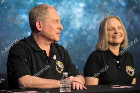 New Horizons Ultima Thule Flyby. New Horizons principal investigator Alan Stern, left, speaks about the New Horizons spacecraft during a press conference after the team received confirmation from the spacecraft that it has completed a flyby of Ultima Thule, at the Applied Physics Laboratory in Laurel, Md. Listening at right is mission operations manager Alice Bowman The spacecraft survived the most distant exploration of another world, a tiny, icy object 4 billion miles away that looks to be shaped like a peanut or bowling pin
