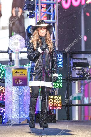 Stock Photo of Allison Hagendorf appears at the New Year's Eve celebration in Times Square, in New York