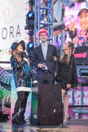 Allison Hagendorf, Tyler 'Ninja' Blevins. Allison Hagendorf, left and Tyler 'Ninja' Blevins on stage at the New Year's Eve celebration in Times Square, in New York