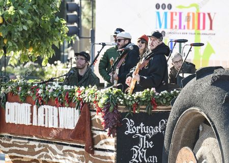 Editorial picture of Chipotle Rose Parade Float Featuring Portugal. The Man, Pasadena, USA - 31 Dec 2018