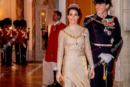 Prince Joachim and Princess Marie of Denmark arriving at the annual New Years reception in Amalienborg Palace