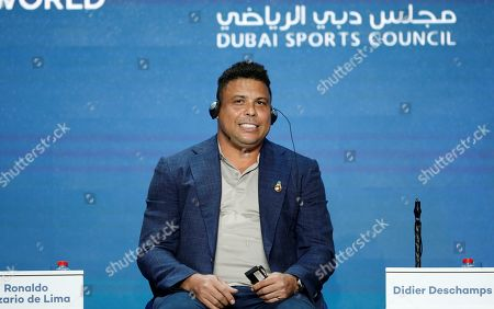 Real Valladolid president and Brazilian former player, Ronaldo Nazario speaks during the first day of the 13th edition of Dubai International Sports Conference in the Gulf emirate of Dubai, United Arab Emirates on 02 January 2019.