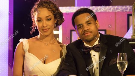 Chaley Rose as Angela and Tristan Wilds as Chris
