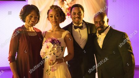 Kron Moore as Gloria, Chaley Rose as Angela, Tristan Wilds as Chris and Shaun Baker as David