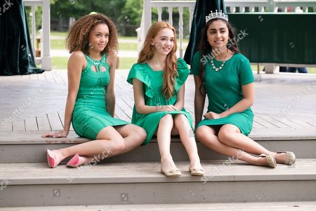Kamaia Fairburn as Piper Parish, Ruby Jay as Holly Hobbie and Saara Chaudry as Amy