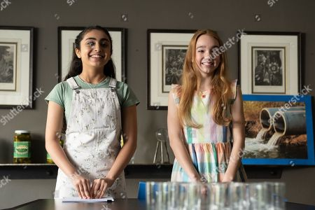 Saara Chaudry as Amy and Ruby Jay as Holly Hobbie