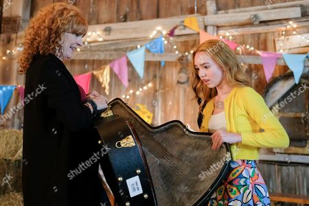 Stock Picture of Sara Botsford as Helen Hobbie and Ruby Jay as Holly Hobbie