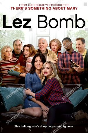 Stock Photo of Lez Bomb (2018) Poster Art. Elaine Hendrix as Maggie, Kevin Pollak as George, Deirdre O'Connell as Rose, Bruce Dern as Grandpa, Cloris Leachman as Josephine, Brandon Micheal Hall as Austin, Steve Guttenberg as Mike, Jenna Laurenzo as Lauren and Caitlin Mehner as Hailey
