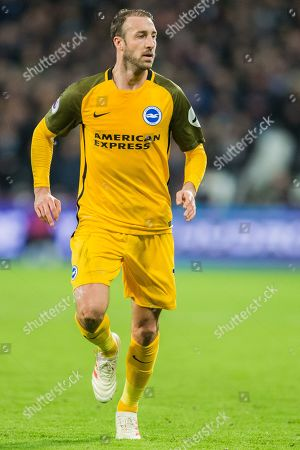 Glenn Murphy (Brighton) during the Premier League match between West Ham United and Brighton and Hove Albion at the London Stadium, London