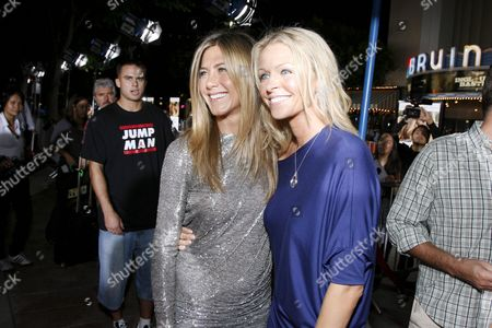 Jennifer Aniston and Anne Marie DeLuise