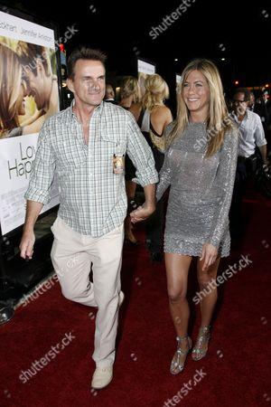 Publicist Stephen Huvane and Jennifer Aniston