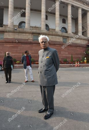 Stock Photo of Former Minister of External Affairs of India Natwar Singh during the Parliament Winter Session on January 2, 2019 in New Delhi, India.