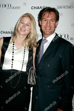 Stock Picture of Sasha Galantic and President of CHANEL Inc. John Galantic
