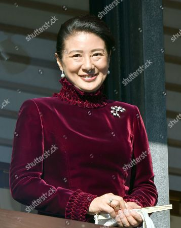 Crown Princess Masako appears during an annual New Year audience at the Imperial Palace in Tokyo on Wednesday, January 2, 2019.