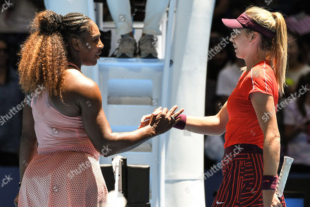 Serena Williams of Team United States celebrating victory after her Ladies' Singles match against Katie Boulter of Team Great Britain