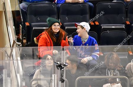 Editorial photo of Celebrities at Pittsburgh Penguins v New York Rangers, NHL ice hockey match, Madison Square Garden, New York, USA - 02 Jan 2019