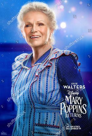 Mary Poppins Returns (2018) Poster Art. Julie Walters as Ellen