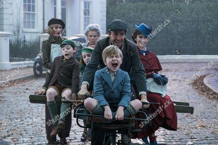 Emily Mortimer as Jane Banks, Nathanael Saleh as John, Pixie Davies as Anabel, Julie Walters as Ellen, Lin-Manuel Miranda as Jack, Joel Dawson as Georgie and Emily Blunt as Mary Poppins