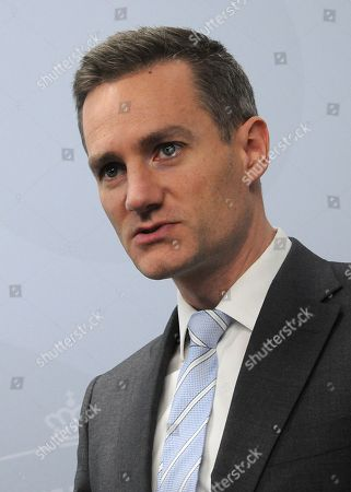 Stock Photo of Rasmus Jarlov, Minister for Trade and Business