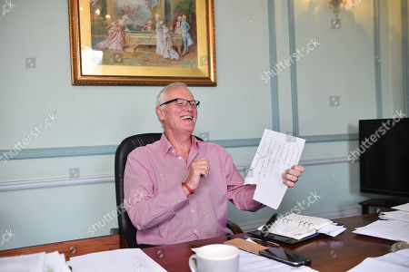 Promoter Barry Hearn At His Matchroom Headquarters In London. Barry Shows Us How Many Times He Has Been To The Gym Since 2008.