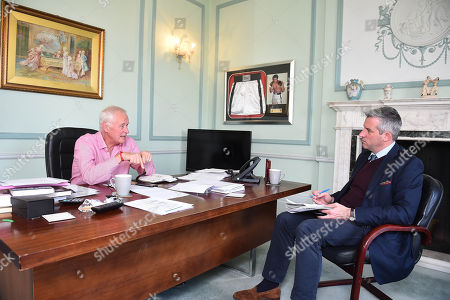 Promoter Barry Hearn At His Matchroom Headquarters In London Talks To Jonathan Mcevoy.
