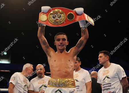 Frank Warren Boxing At The Copper Box Arena London Main Event James Degale V Caleb Traux Chief Support - Ibf Super-feather Weight Title Fight Between Lee Selby V Eduardo Ramirez In Action. Celebrates His Ud Win.