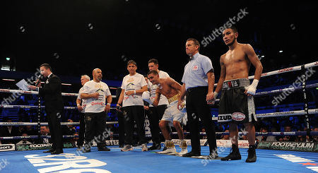 Frank Warren Boxing At The Copper Box Arena London Main Event James Degale V Caleb Traux Chief Support - Ibf Super-feather Weight Title Fight Between Lee Selby V Eduardo Ramirez In Action.