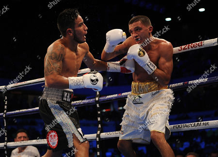 Editorial picture of Frank Warren Boxing At The Copper Box Arena London Main Event James Degale V Caleb Traux Chief Support - Ibf Super-feather Weight Title Fight Between Lee Selby V Eduardo Ramirez In Action.
