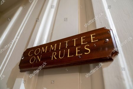Paul Ryan. The entrance to the House Rules Committee, under new leadership by Chairman Rep. Jim McGovern, D-Mass., is seen as the new Democratic majority prepares to approve a new rules package on how legislation reaches the floor, at the Capitol in Washington