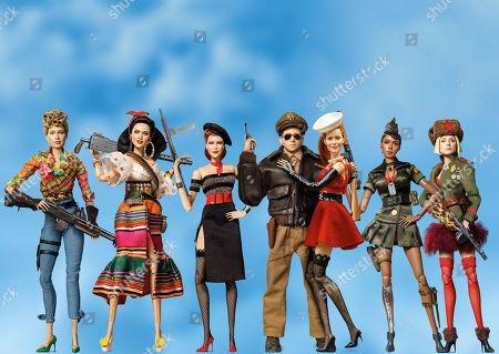 Roberta (Merritt Wever), Carlala (Eiza Gonzalez), Suzette (Leslie Zemeckis), Cap'n Hogie (Steve Carell), Nicol (Leslie Mann), GI Julie (Janelle Monae) and Anna (Gwendoline Christie).