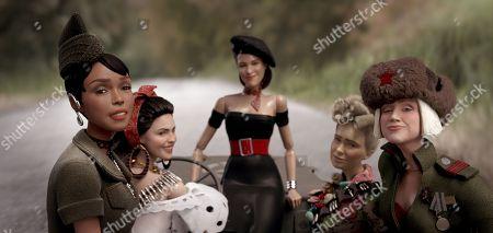 GI Julie (Janelle Monáe), Carlala (Eiza Gonzalez), Suzette (Leslie Zemeckis), Roberta (Merritt Wever) and Anna (Gwendoline Christie)