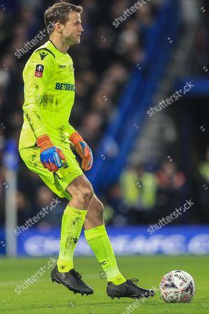 Luke Steele (15) goalkpeer of Nottingham Forest