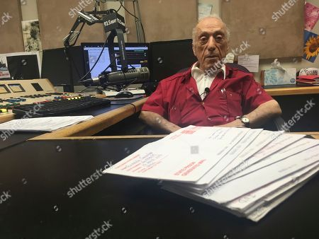 DJ Art Laboe sits in his Palm Springs, Calif., studio and talks about his 75 years in the radio business. Laboe remains a popular DJ among generations of Mexican American in California, Arizona and New Mexico and has a devoted following among those who every Sunday on his syndicated radio show give dedications to loved ones serving time in prison