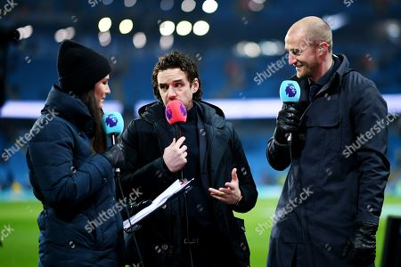 General view of pundits Owen Hargreaves and Brede Hangeland before the start of the match
