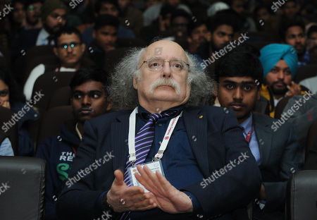 Stock Photo of Nobel Laureate Professor Duncan Haldane during 106th Indian Science Congress at Lovely Professional University on January 3, 2019 near Jalandhar, India.