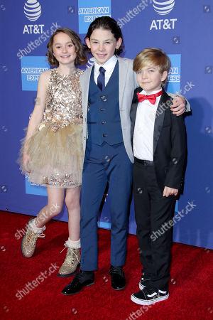 Pixie Davies, Nathanael Saleh and Joel Dawson