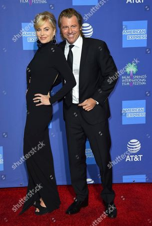 Vincent Van Patten, Eileen Davidson. Eileen Davidson, left, and Vincent Van Patten arrive at the 30th annual Palm Springs International Film Festival, in Palm Springs, Calif